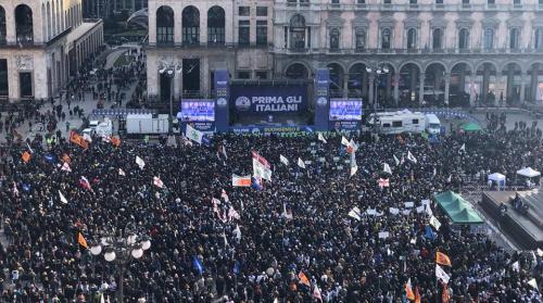 Milano 24 Febbraio 2018Manifestazione PRIMA GLI ITALIANI